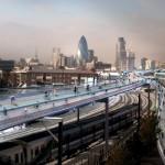 Ponad dachami Londynu na rowerze