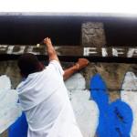 Antymundialowe graffiti w Brazylii